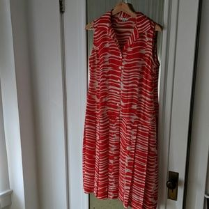 CAbi Dresses - Cabi Brushstroke Dress Style #281 Orange/White